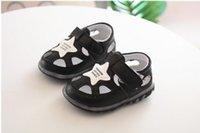 кожаные тапочки для мальчиков оптовых-Детская обувь для мальчиков Детская обувь из искусственной кожи Обувь для малышей Мокасины Мягкая обувь First Walker Новорожденные сандалии Детские сандалии Детские тапочки для мальчиков