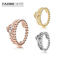 Wholesale pearls crystal shell for sale - Group buy FAHMI Sterling Silver SHINE MY PRINCESS TIARA RING Rose Gold Exquisite Lucky Charming Charm