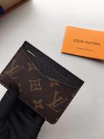 лучший кошелек для кредитных карт оптовых-письмо лучшее качество мода стиль роскошный дизайнер классический известный мужчины женщины известный натуральная кожа держатель кредитной карты мини кошелек M60166
