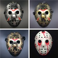 Wholesale cosplay jason mask resale online - Horror Jason Voorhees Mask Halloween Cosplay Custume Masks Friday the th Scary Mask Styles Horrific Fake Face A02