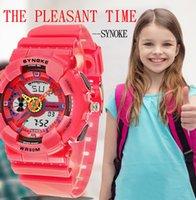 reloj de entrega al por mayor-Reloj para niños 2019 Multifunción 50M Reloj impermeable LED Reloj de pulsera digital de doble acción Reloj Regalo Dropship # 7