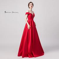 a821d70fb3c Wholesale cheap maternity wedding dresses for sale - 2019 Cheap A line Prom  Satin Pockets Dresses