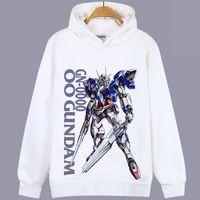 Wholesale combat suit resale online - Combat hoody Gundam GN sweatshirt Mobile suit unisex tops Cartoon colorfast hoodies Hooded sweat shirt Quality sweater
