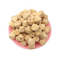 Wholesale wood beads bracelet accessories for sale - 100pcs mm wooden beads Necklace Handmade For Cheap Polygon Wood Bracelet Jewelry Accessories Make Geometric hexagonal beads