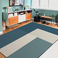 ingrosso biancheria da letto di colore giallo-Moda moderna stile giapponese nordico semplice bed and breakfast geometrico blu scuro verde camera da letto porta soggiorno tappeto tappeto rosso blu