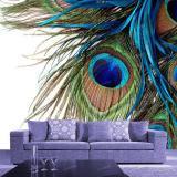 murales de pavo real al por mayor-Liquidación 3D Peacock Wallpaper Photo Murals Mural de pared grande Papel de pared impermeable Papel De Parede Home Art Decor