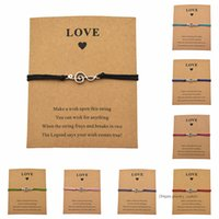 Wholesale musical note chain resale online - 8 Colors Elegant Music Note Charm Bracelets Card Love Musical Jewelry Gift For Women Men Kids Music Lover Lucky Bracelets