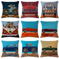 Wholesale used quality cars for sale - Group buy Cartoon Dog Pillow Case Lovely Car Use Pillowcover Sofa Flax Pillowslip cmx45cm Home Decoration High Quality Fashion hs C1