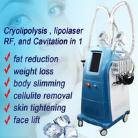 Wholesale machines for lipolysis for sale - Cryo Lipolysis Slimming cool slimming Machine different size freezing handles cavitation heads for slimming radio frequency machine