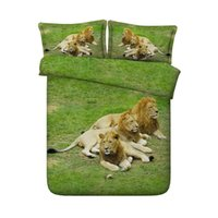 Wholesale tigers bedding queen online - 3 Pieces Duvet Cover Set Comforter Quilt Bedding Cover With Zipper Closure Wildlife Tiger Leopard Bed Spread Lion Boys Girls D Bedding Sets
