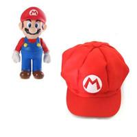 bebek polar şapka toptan satış-Yumuşak peluş oyuncak Süper Mario Bros Şapka cosplay Kapaklar Mario Luigi Soryu Kedi Kulak Polar Polar Cosplay Şapka sevimli bebek pllush oyuncaklar W190321