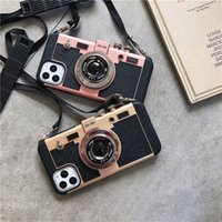 Wholesale iphone six online – custom Fashionable Stereo retro camera case Transparent TPU Shockproof Phone Case for iPhone Pro Max XR XS MAX Plus six colors