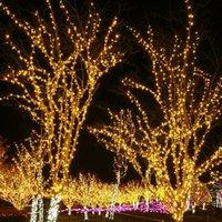 beyaz yılbaşı ağacı açtı toptan satış-10m 100 LED dize peri partisi sıcak beyaz lamba aparatı Noel ağacı süsleme