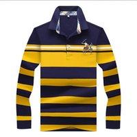 стильные рубашки поло оптовых-Роскошные Мужские Дизайнерские Поло Высокого Качества Стильные Рубашки Поло для Мужчин Футболки Футболки Осень 3 Пуловер Горячие Топы Одежда 3 Цвета Дополнительно M-3XL