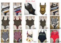 maillots de bain rembourrés achat en gros de-Le nouveau concepteur F G L maillot de bain mode maillot de bain avec coussin pour les femmes maillot de bain bandage Sexy maillots de bain sexy Bikini une pièce 4 tailles