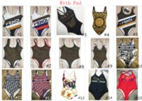 yeni bikiniler toptan satış-Yeni Tasarımcı F G L Kadınlar Için Mayo Ile Mayo Moda Mayo Mayo Bandaj Seksi Mayo Seksi Tek parça Bikini 4 boyutları