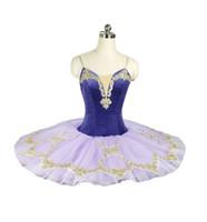 klassischer tutus groihandel-Professionelle Tutu Kind lila klassisches Ballett Tutus Pfannkuchen lila Leistung Bühnenwettbewerb Ballerina blau Bühne Platte Tutu Baby