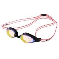 cam yüzeye su geçirmez toptan satış-Yetişkin Erkekler Womem Yüzme Gözlük Anti-sis UV Koruma Su Geçirmez Yüzme Cam Hiçbir Kolay sızdırmazlık Dalış Gözlük Ayarlamak