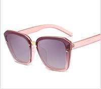 quadratische koreanische sonnenbrille großhandel-New Square Large Frame Sonnenbrillen Korean Fashion Herren und Damen Universal Sonnenbrillen