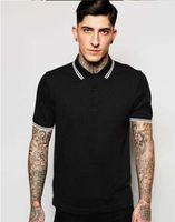 top london t-shirts großhandel-Perry Herren London Brit Poloshirt Leaf Embrodery 2020 Kurzarm Sommer Feste Hemden Herren Schwarz Baumwoll T-Shirt Top Herren Fred Polos Weiß