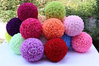 12 inç çiçek topları toptan satış-Ev Bahçe Pazar Dekor Yapay Gül Çiçek Topu 12 İnç 30cm Düğün Dekorasyon Çiçek Topu İpek Çiçek Topu