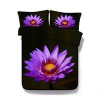 Wholesale 3d floral bedding set resale online - 3D Petal Floral Print Bedding Duvet Cover Set with pillowcase Microfiber Comforter Cover Zipper Closure NO Quilt