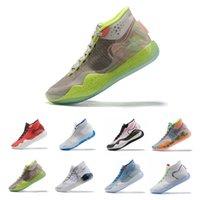 zapatillas de baloncesto kd floral al por mayor-Nueva KD 12 zapatos para hombre Rojo 90SS Kid ICE Wold gris baloncesto de la Universidad EYBL multicolor Tamaño Kevin Durant XII KD12 Formadores zapatillas de deporte 12