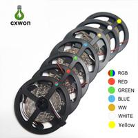 ingrosso decorazione della striscia principale per l'automobile-Decorazione LED Strip SMD3528 Impermeabile 5m 12V LED Strip 300led 600leds Flessibile 60led / m 120 led / m Strip Light per Auto