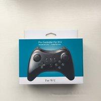 manejar consolas de juegos al por mayor-Alta calidad para WiiU Gamepad Classic controlador inalámbrico para Nintendo Wii U Pro consola de juegos accesorios de mango