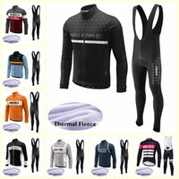 Wholesale cycling thermal sets resale online - Morvelo team Cycling Winter Thermal Fleece jersey bib pants sets mens Outdoors Sports Biking clothes bicycle clothing U101005