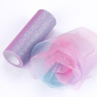 Wholesale party violet dresses for sale - Group buy 15cm yards DIY grenadine dress flicker yarn for wedding home party stage decoration accessories iridescence gauze