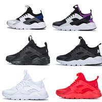 черные белые красные подушки оптовых-AirS Huarache мужчины женская обувь кроссовки черный красный белый спортивный тренер подушка поверхность дышащая спортивная обувь 36-45