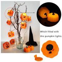 ev tipi pil ampulleri toptan satış-12pcs / Set Mini Simüle Kabak LED Işık Wax Lambası Halloween Ev parti dekor LED Ampüller 12months Plastik Kuru Akü