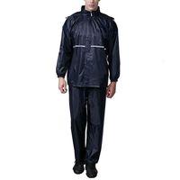 erwachsener regenanzug großhandel-Neues Design Unisex Erwachsene Regenmantel Anzug Motorrad Regen Anzug Angeln Regenbekleidung Wasserdichte Regenjacke Hose Größe XL-4XL