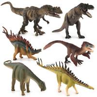 ingrosso figurine di azione plastica-Grande formato Jurassic Wild Life Dinosaur Toy Set Animali Action Figures Simulazione Drago Modelli di plastica Figurine Giocattoli per bambini