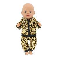 ingrosso leopardo della bambola-Vestiti per bambole Adatto per accessori per bambole da 43 cm Vestito sportivo con stampa leopardo Vestito casual