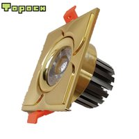 Wholesale light mounting clips for sale - Topoch LED COB Downlight W Pack Bronze Golden CNC Machining Aluminum Cutout MM Spring Clips Mount AC100 V for Interior Lighting