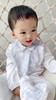 baby spielanzug sommer kleidung gesetzt großhandel-Sommer Herbst Jungen Kleidung Neugeborenen Kostüme Marke Babyspielanzug Set Baumwolle Overall + Hüte + Lätzchen 3 STÜCKE Anzug Infant Baby Overalls