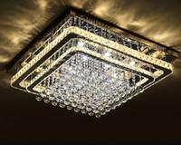 restaurant chandelier al por mayor-Venta caliente de La Moda de Cristal Luz de Techo LED Foyer Lámpara de Techo Restaurante Moderno Restaurante Iluminación Colgante de la Sala de estar Arañas LLFA