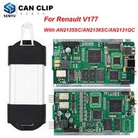 ingrosso l'attrezzo diagnostico renault può clip-Per Renault Full Chip PU Clip Fermare OBDII Strumento Diagnostico Auto AN2131QC AN2135SC V177 OBD2 Scanner 1998-2017