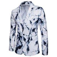 bir düğme uygun toptan satış-Erkek Avrupa kod bir düğme takım elbise ceket Tüy baskı erkek ilkbahar ve sonbahar moda takım elbise ceket