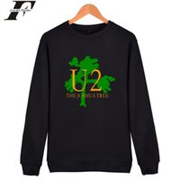 rockmusik-sweatshirts großhandel-U2 Mens Hoodies Und Sweatshirts Berühmte Elektronische Musik Capless Hoodies Männer Irische Populäre Rock Band Mode Kleidung