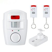 Wholesale motion detector infrared resale online - Home Security PIR MP Alert Infrared Sensor Anti theft Motion Detector Alarm Monitor Wireless Alarm system remote control