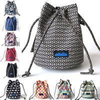 Wholesale pack baskets resale online - KA Shoulder Bag Basket Bags Canvas Handbags Shoulder Strap Packs Outdoor Travel Shopping Bags For Women