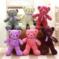 anime toy bear toptan satış-Teddy Bear Dolması Hayvanlar 35 cm Sevimli Bebek Ayı Oyuncaklar Peluş Oyuncaklar Bebek Yumuşak Çocuklar Düğün Törenleri Kawaii Hediye