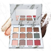 ingrosso paletta di trucco dell'ombretto di 12 colori professionale-12 colori professionale Glitter Eyeshadow Pallete Makeup Earth nude eyeshadow Marble Shades Eyes Make Up Palette Beauty Cosmetic