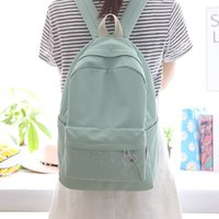 Wholesale pretty girls backpacks for sale - Group buy 2018 pretty style girls backpack dandelion embroidery women backpack casual school