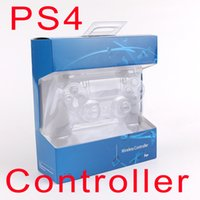 Wholesale joystick games resale online - SHOCK Wireless Controller TOP quality Gamepad for PS4 Joystick with Retail package LOGO Game Controller free DHL shipping