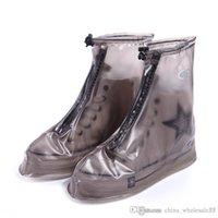 zapatos de cubierta plana unisex al por mayor-ABI-001 Cubiertas impermeables calientes para lluvia Cubiertas reutilizables Botas planas para adultos Unisex Cubre zapatillas antideslizantes Zapatillas para lluvia