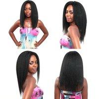12 pc brazilian saç toptan satış-MuSi 8A Brezilyalı Bakire Yaki Düz 3 Demetleri 100% Brezilyalı Yaki Düz İnsan Saç Uzantıları Brezilyalı Sapıkça Düz Saç 3/4 Adet